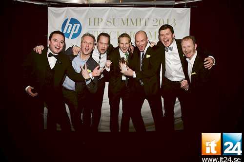 5 Glada vinnare av kategorin System integrator of the Year, Atea.<br />