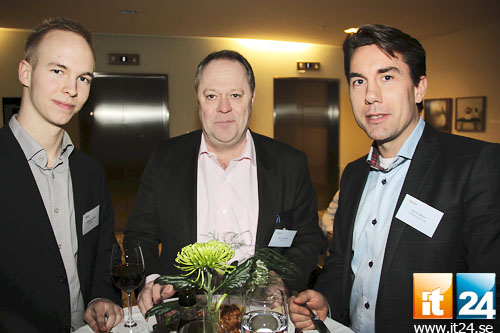 Matvrå. Jonathan Larefalk, Tech Data, Per Johansson, Advit, och Patrik Meyer. Office Solutions.<br />
